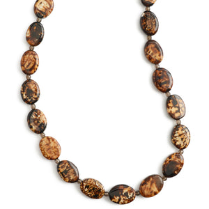 "Exotic Leopard Print Agate Necklace, in Sterling Silver or Gold Filled-16""-18"""