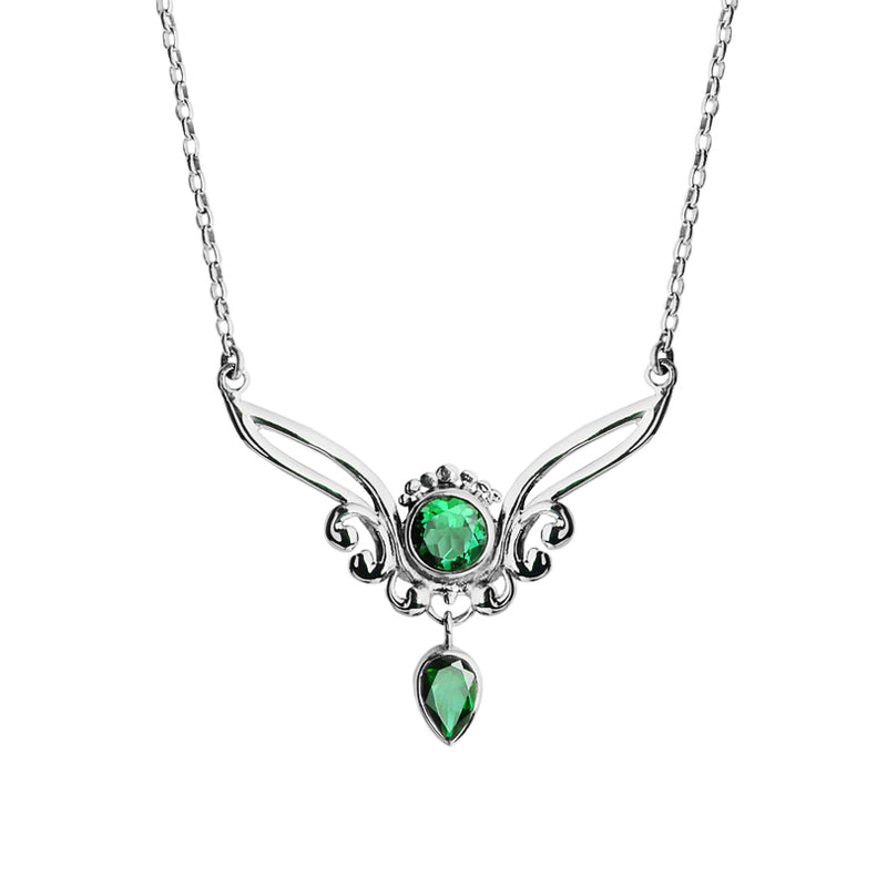 Green Quartz Sterling Silver Necklace