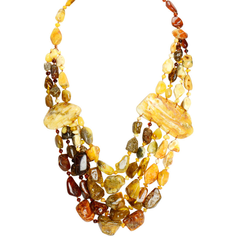 Indescribablely Beautiful Baltic Amber Butterscoth Statement Necklace