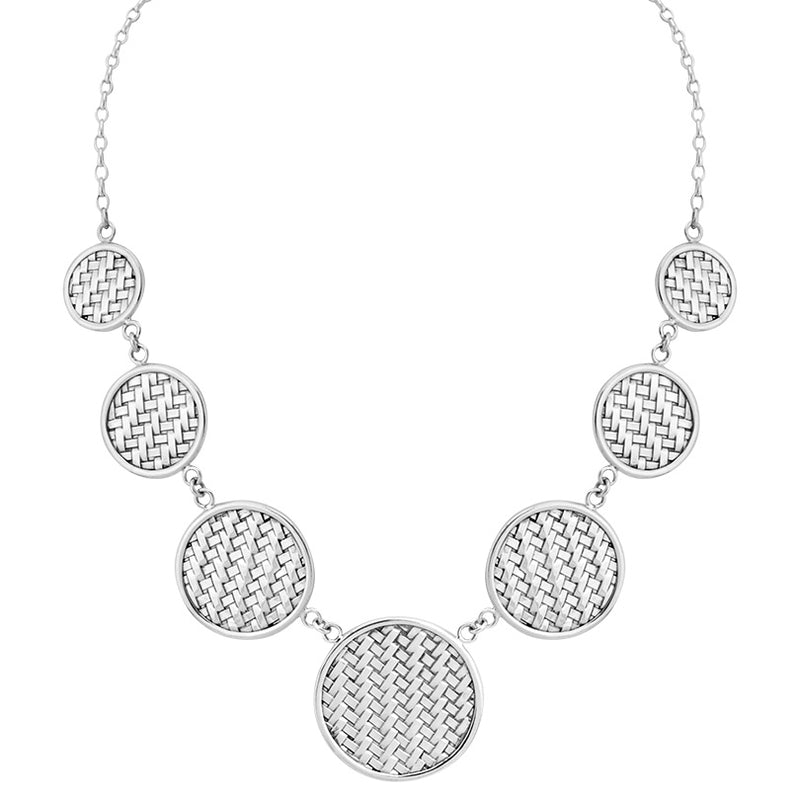 Smart Weave Design Balinese Sterling Silver Necklace