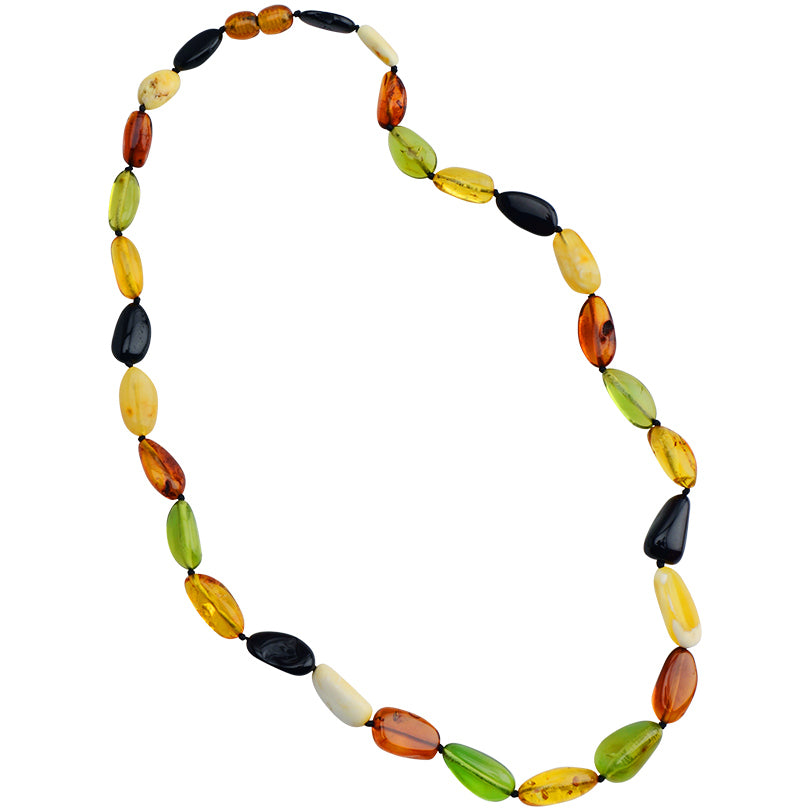 Gorgeous Caribbean Green and Mixed Colors Baltic Amber Necklace 20""