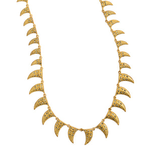 "Edgy Marcasite Fashionable Gold Plated Necklace 16"" - 20""-only one available"