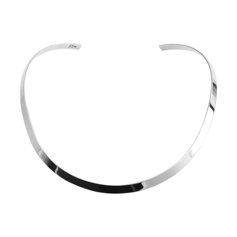Gorgeous Smooth Shiny Sterling Silver Collar 16""