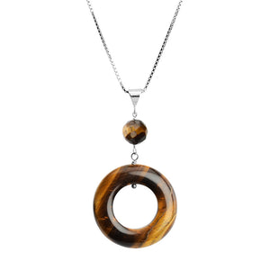Tiger's Eye Sterling Silver Necklace