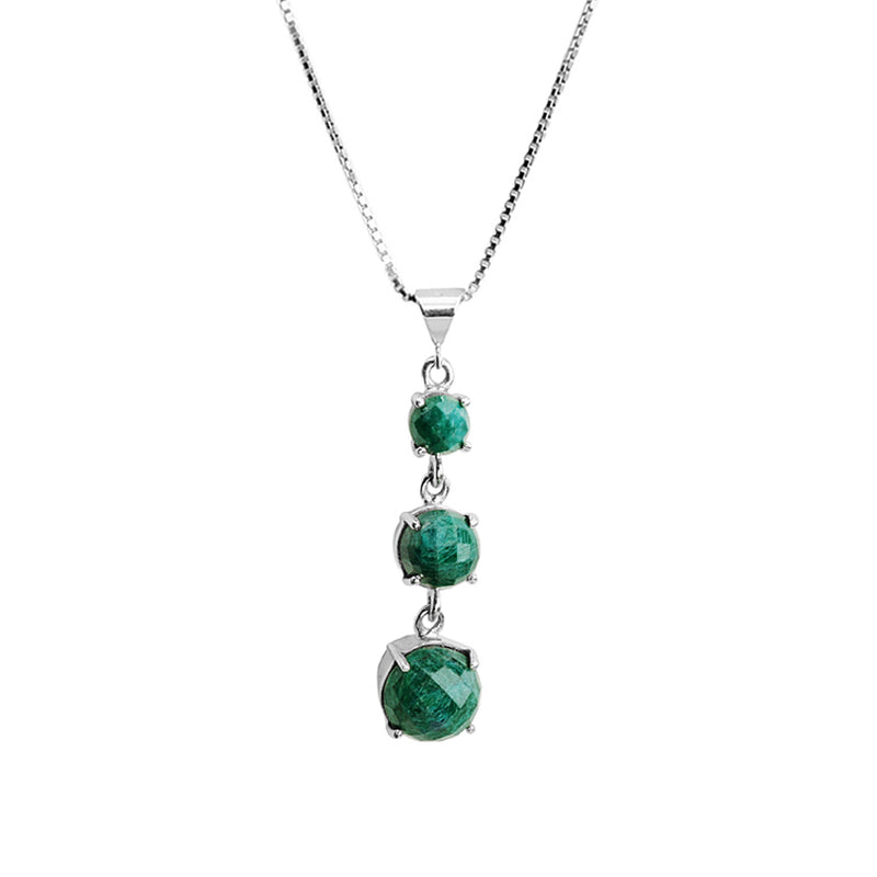 Evergreen Corundum Sterling Silver Necklace