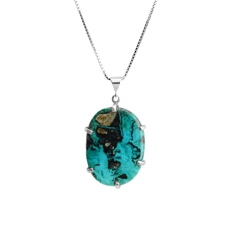 Starborn Arizona Blue Chrysocolla Sterling Silver Necklace
