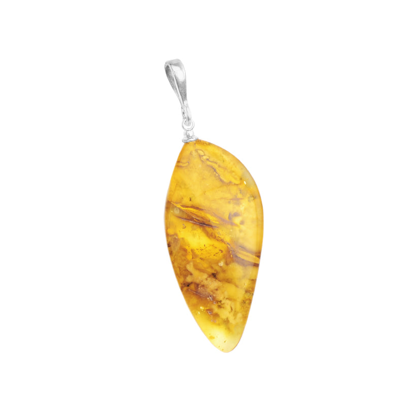 Beautiful Baltic Amber Sterling Silver Pendant
