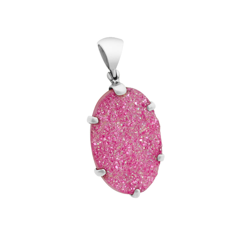 Starborn Drusy Sterling Silver Pendant