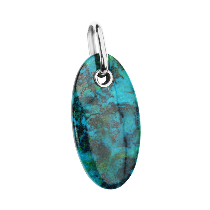Gorgeous Large Blue-Turquoise Color Chrysocolla Starborn Pendant