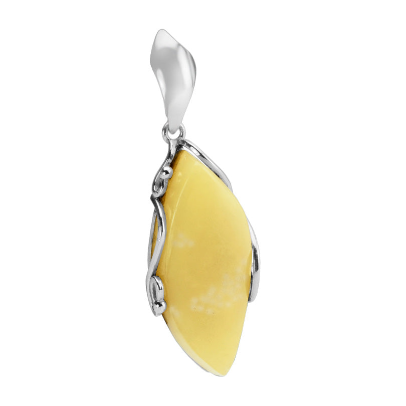 Lovely Butterscotch Baltic Amber Sterling Silver Pendant