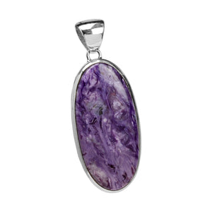 Gorgeous Russian Purple Charoite Sterling Silver Pendant