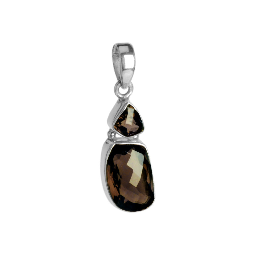 Smoky Quartz Sterling Silver Pendant