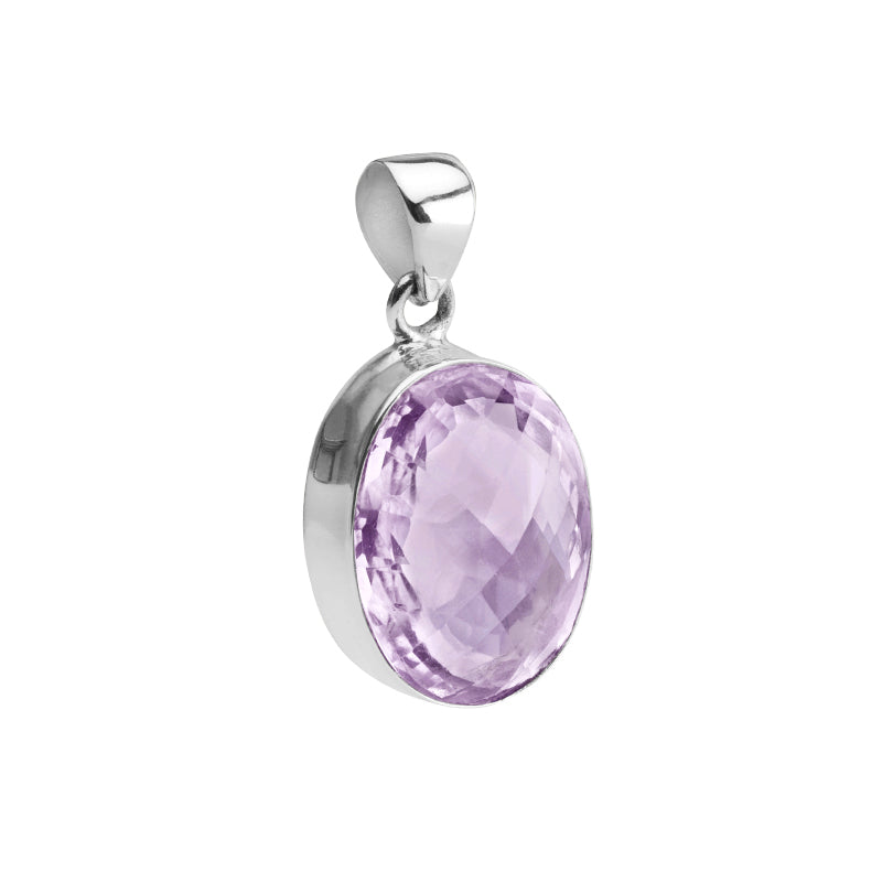 Dreamy, Faceted Lavender Amethyst Sterling Silver Pendant