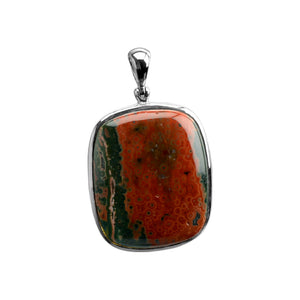 Starborn Gorgeous Red Ocean Jasper Sterling Silver Statement Pendant