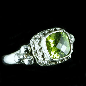 Beautiful Peridot Sterling Silver Ring