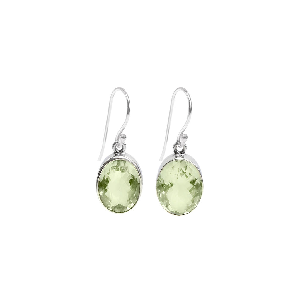 Dazzling Green Amethyst Sterling Silver Earrings