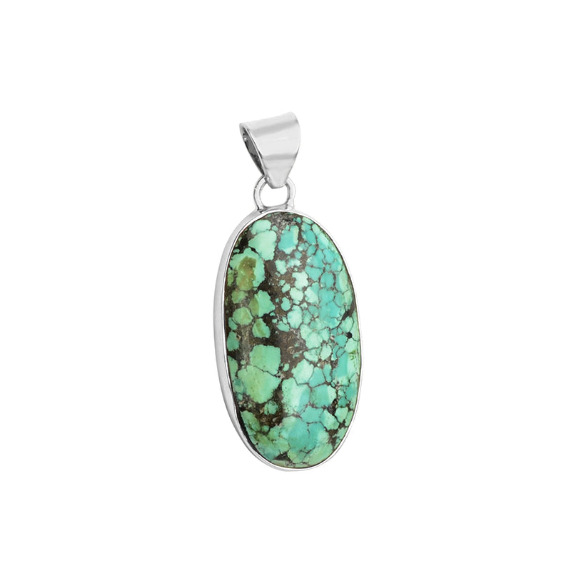 Beautiful Colors of Natural Turquoise Sterling Silver Pendant