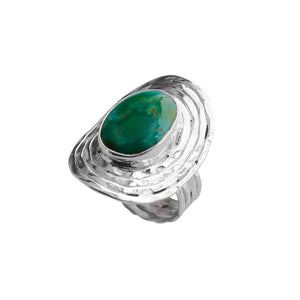 Genuine Turquoise Sterling Silver lStatement Ring