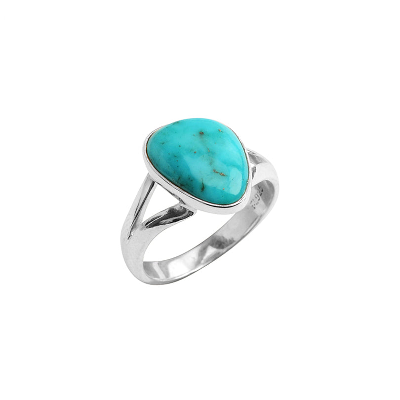 Small Bright Color Arizona Turquoise Sterling Silver Ring
