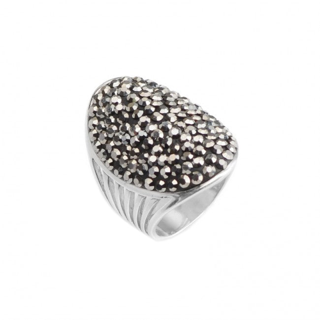 Sparkling Hematite Sterling Silver Ring