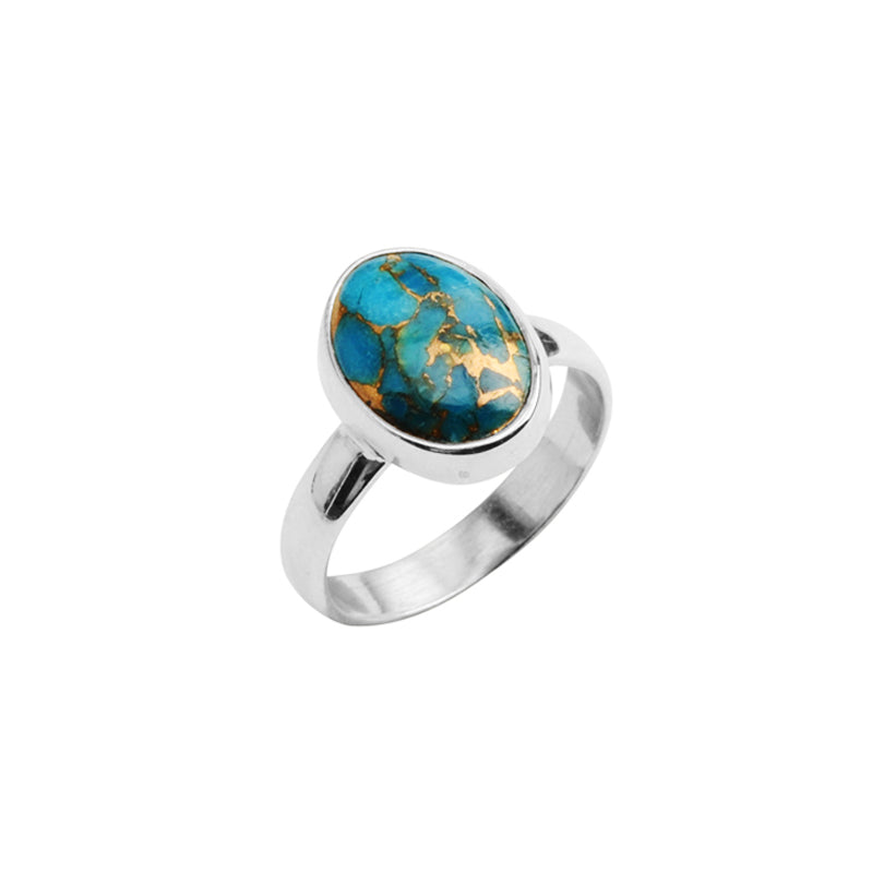 Petite Stone Turquoise Sterling Silver Ring