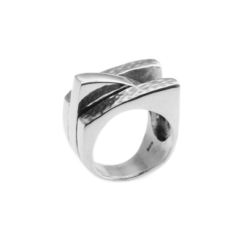 Stunning Modern 3-Tier Sterling Silver Ring