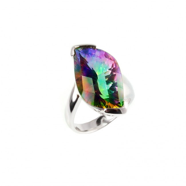 Gorgeous Mystic Quartz Sterling Silver Ring