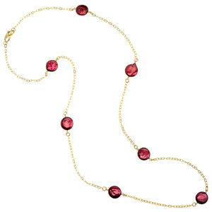 Gold Plated Chain Fresh Water Coin Pearl Necklace - 54""