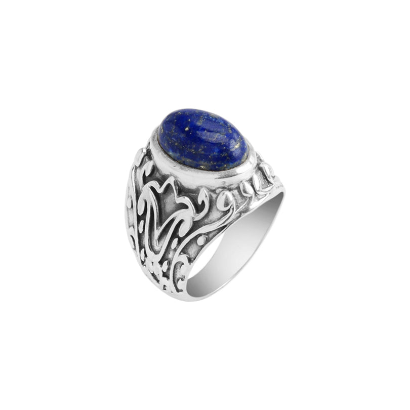 Timeless Lapis Balinese Filigree Sterling Silver Ring-many sizes