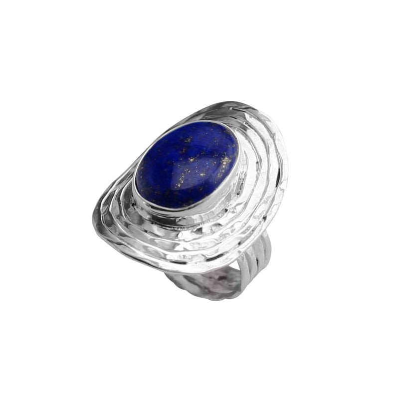 Stunning Design Blue Lapis Sterling Silver Ring