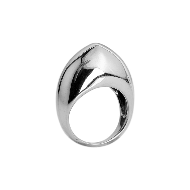 Sleek Smooth, Modern Design Sterling Silver Dome Ring