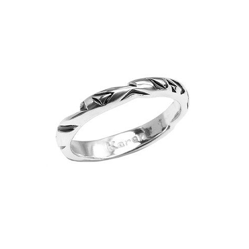 Delicate Karen London Silver Plated Band Ring
