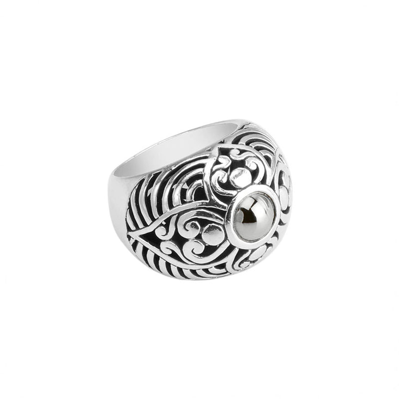 Gorgeous Balinese Sterling Silver Filigree Ring
