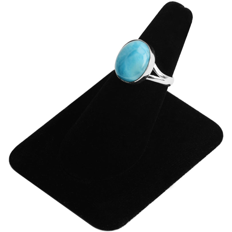 Larimar Small Stone Sterling Silver Ring