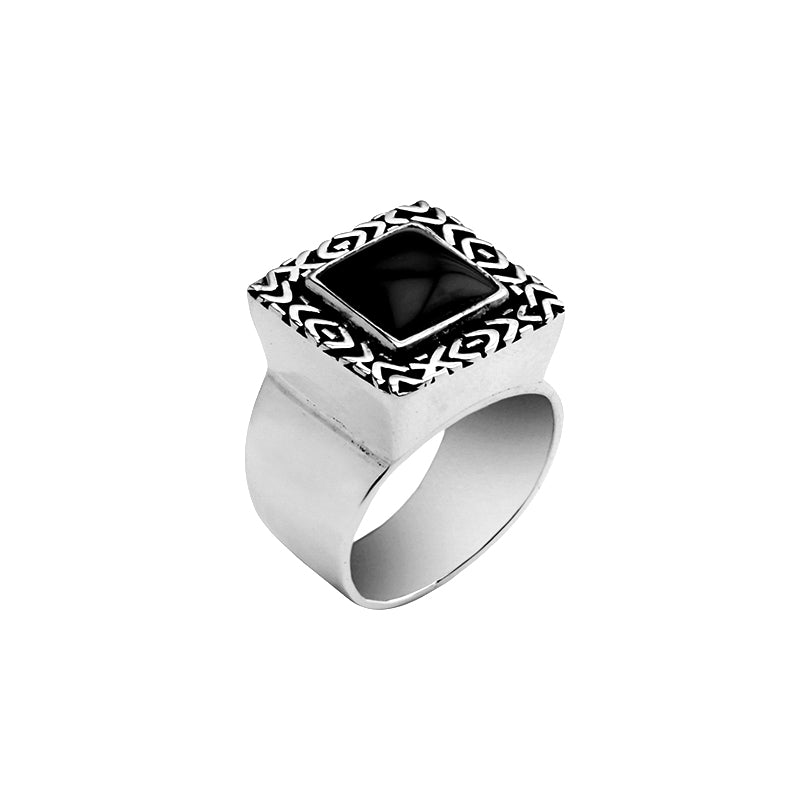 deGruchy Stunning Black Onyx Sterling Silver Ring