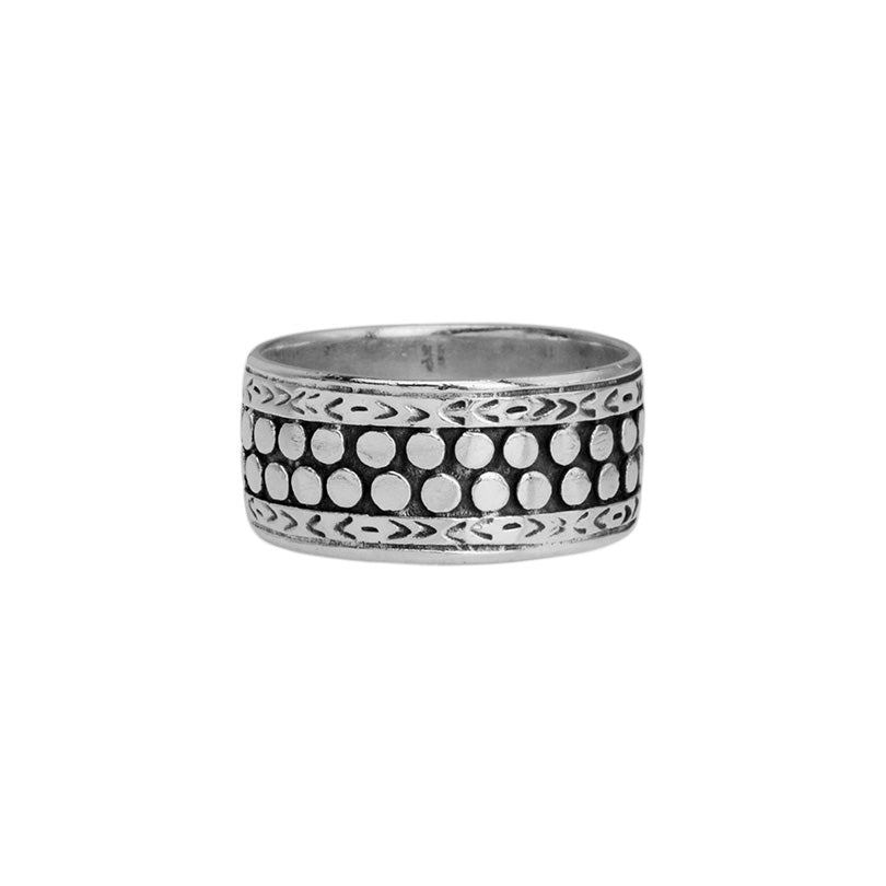 Renowned Bali Designer deGruchy Sterling Silver Men's Ring