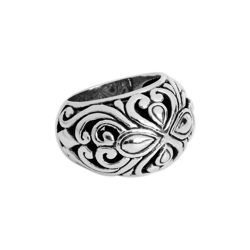 Exquisite Design Sterling Silver Filigree Ring