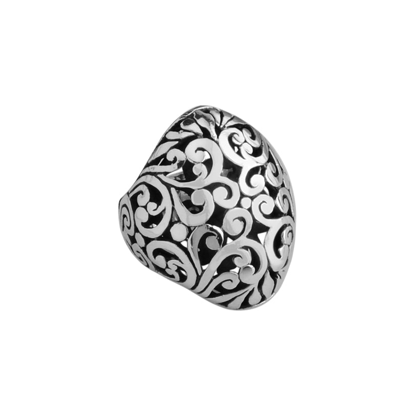 Gorgeous Balinese Filigree Sterling Silver Ring