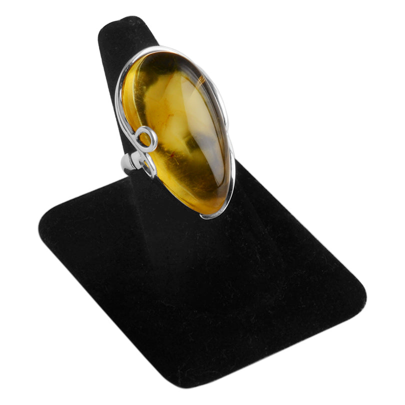 Gorgeous Baltic Amber Sterling Silver Statement Ring