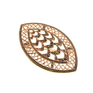 Art Deco Design 14kt Gold Plated Marcasite Pendant / Brooch