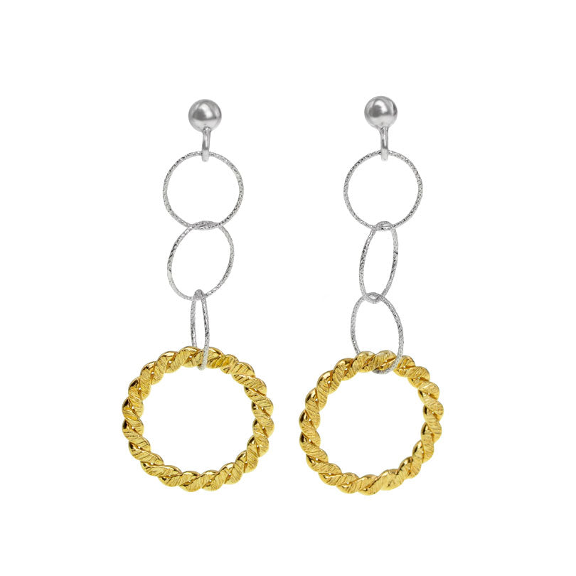 Darling Gold Plated Sterling Silver Italian Earrings