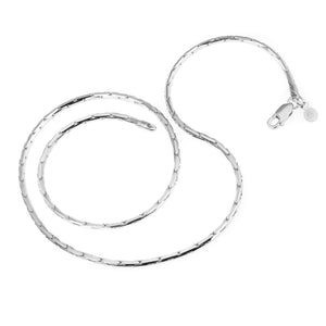Rhodium Plated Sterling Silver Cardano Chain