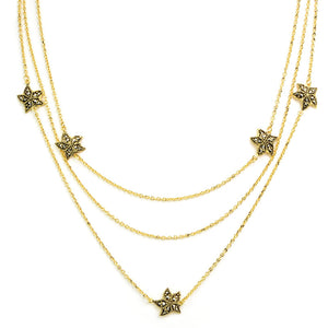 Adorable Sea Creature 14kt Gold Plated Marcasite Starfish Necklace