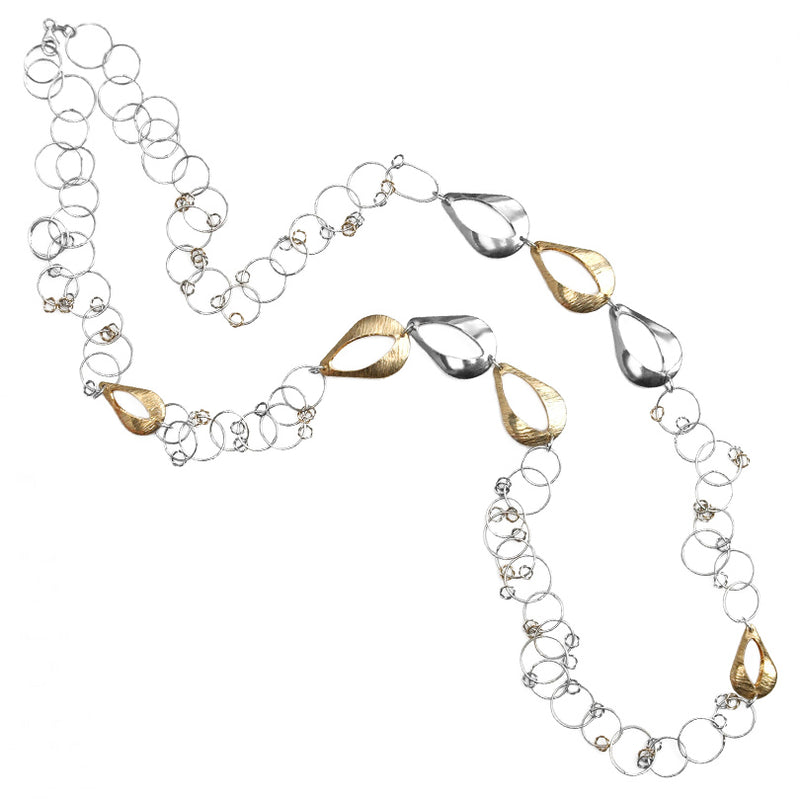 18kt Gold Accent Italian Sterling Silver Necklace