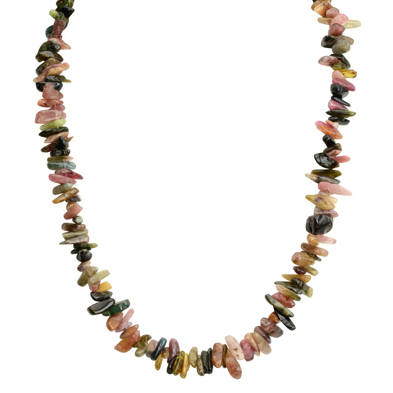 Gorgeous Natural Tourmaline Sterling Silver Necklace