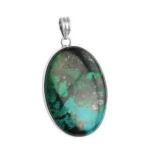 Sterling Silver Turquoise Chrysocolla Pendant