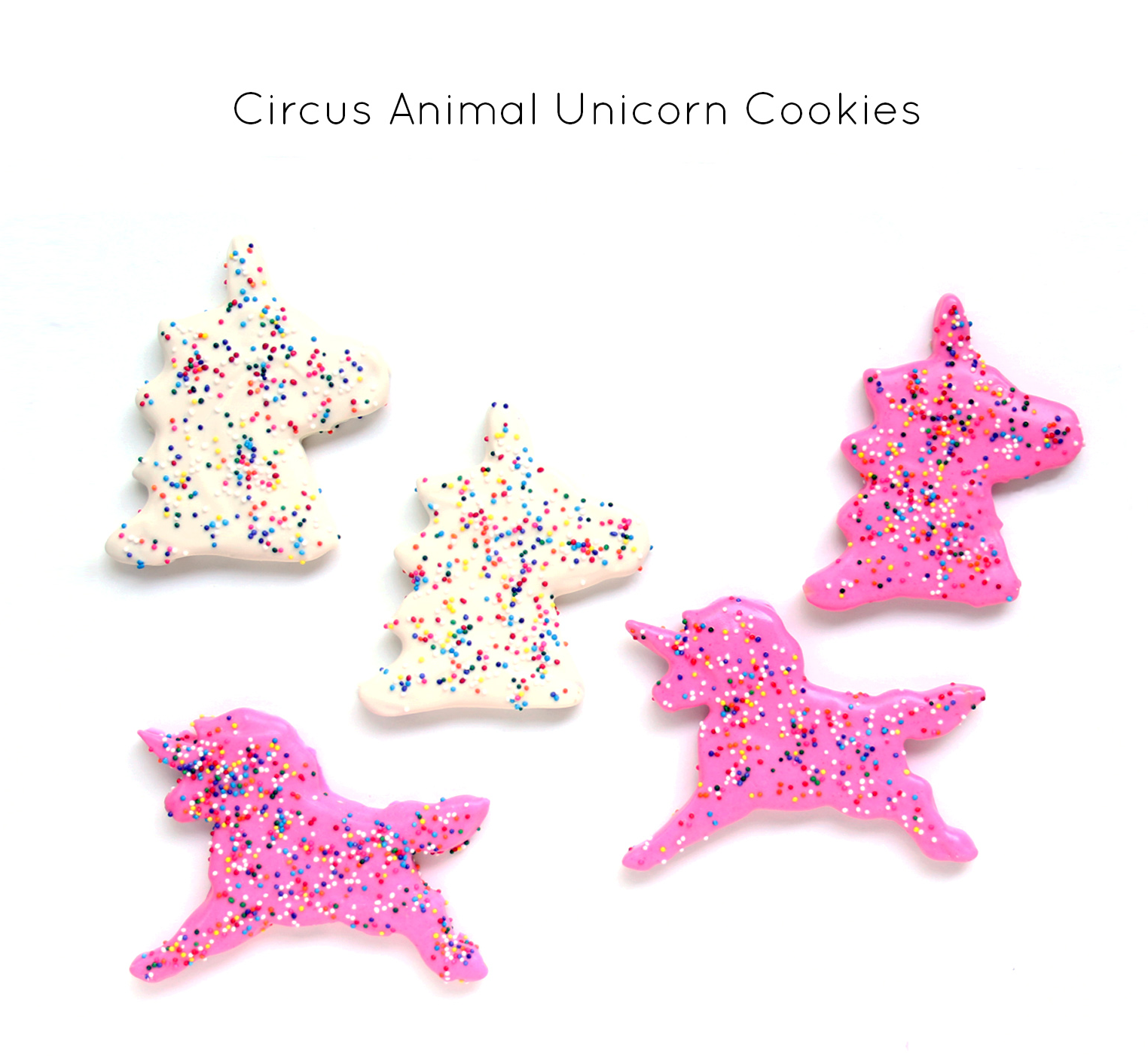Homemade Circus Animal Unicorn Cookies