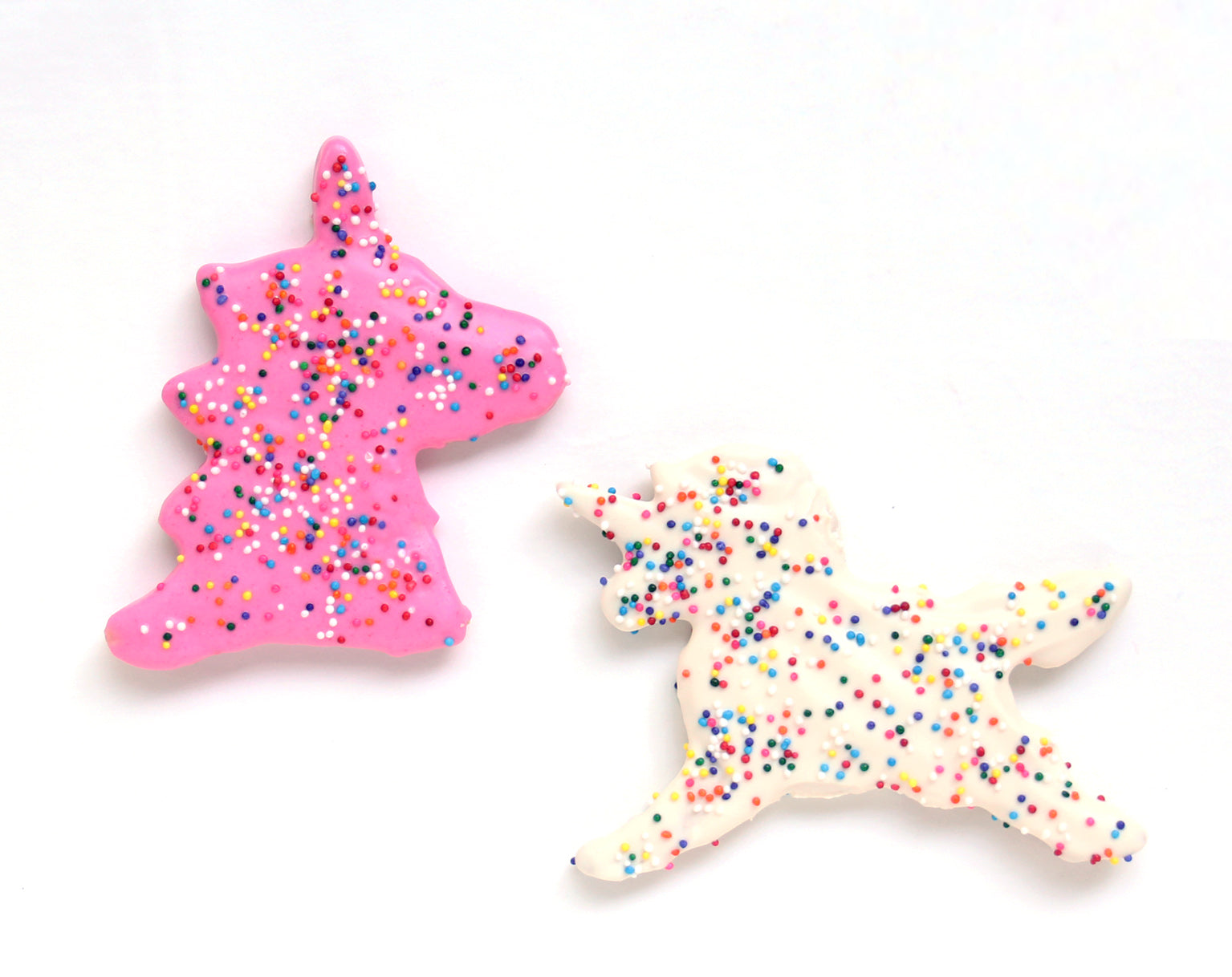 Pink and White Unicorn Cookies