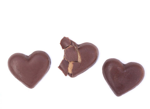 homemade chocolate peanut butter hearts