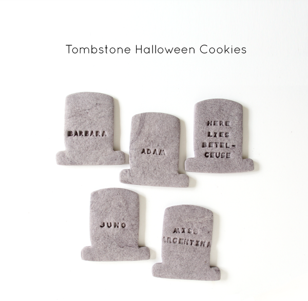 Halloween Tombstone Cookies
